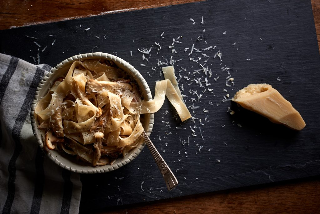 Homemade Tagliatelle with Burnt Butter, Pinenuts and Parmesan