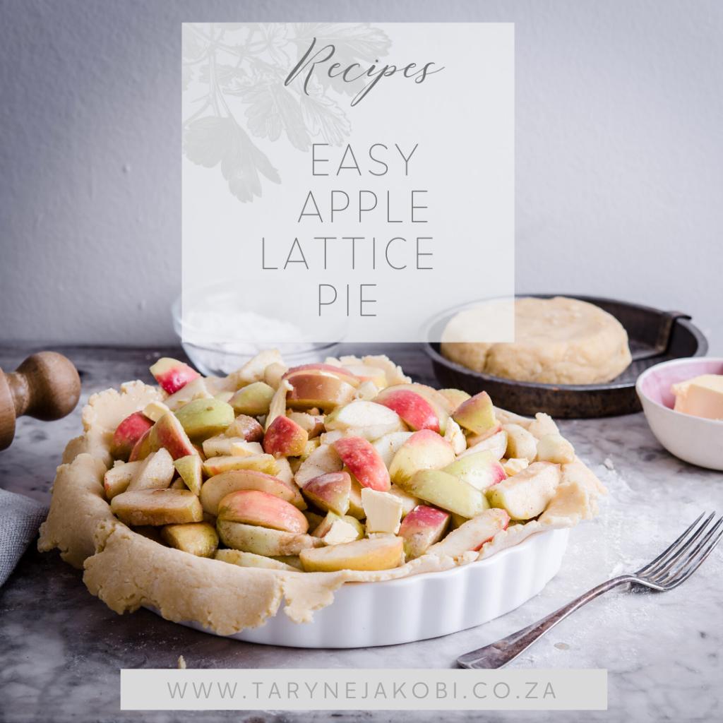 blog cover pic of lattice apple pie