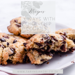 Brown butter and salted choc chip cookies