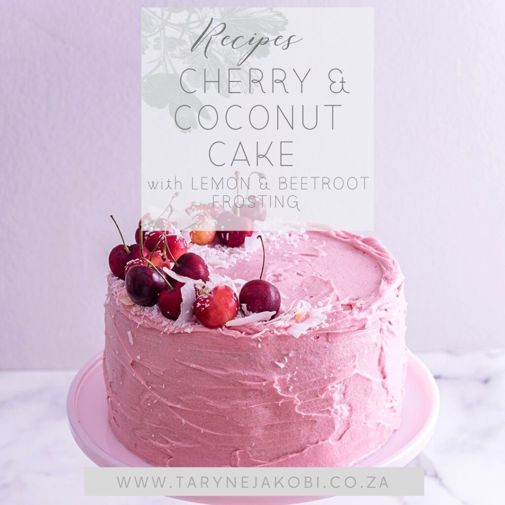 cover image for coconut and cherry cake